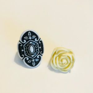 Tribal and Floral statement rings